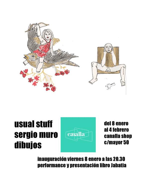 Exposición Sergio Muro. Usual staff.