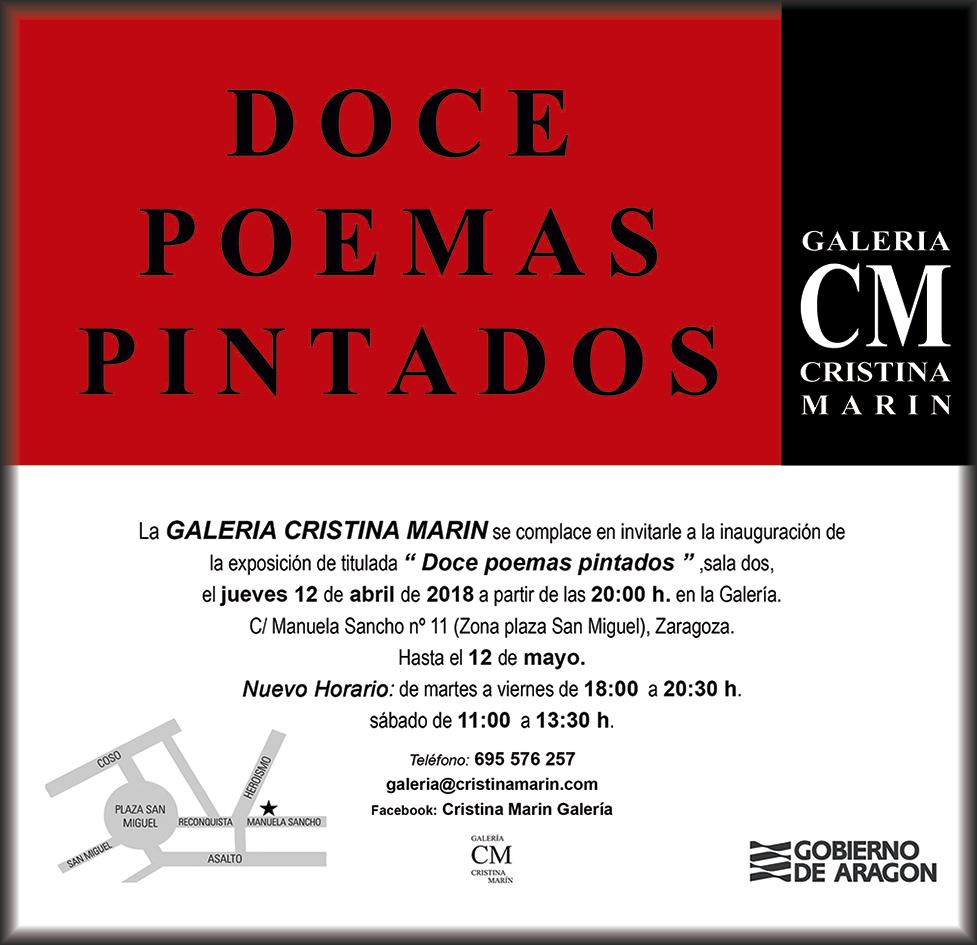 Exposición Miguel Mainar. 12 poemas pintados.