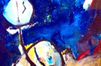 Elena Gastón. Bessie Smith. 195x130. Acrílico sobre tela. Técnica Mixta.