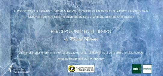 INAUGURACIÓN. MIGUEL MAINAR. PERCEPCIONES EN EL TIEMPO.